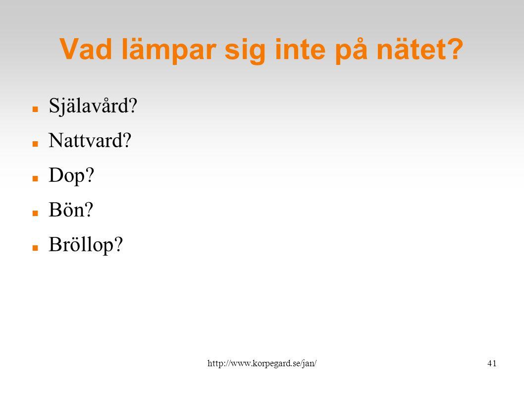 http://www.korpegard.se/jan/42 Risker Länkar till andra siter Omodererade forum Bristfällig teologi  Var påläst.