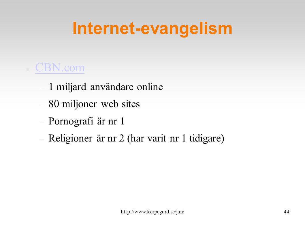 http://www.korpegard.se/jan/45 Funkar E-vangelism.