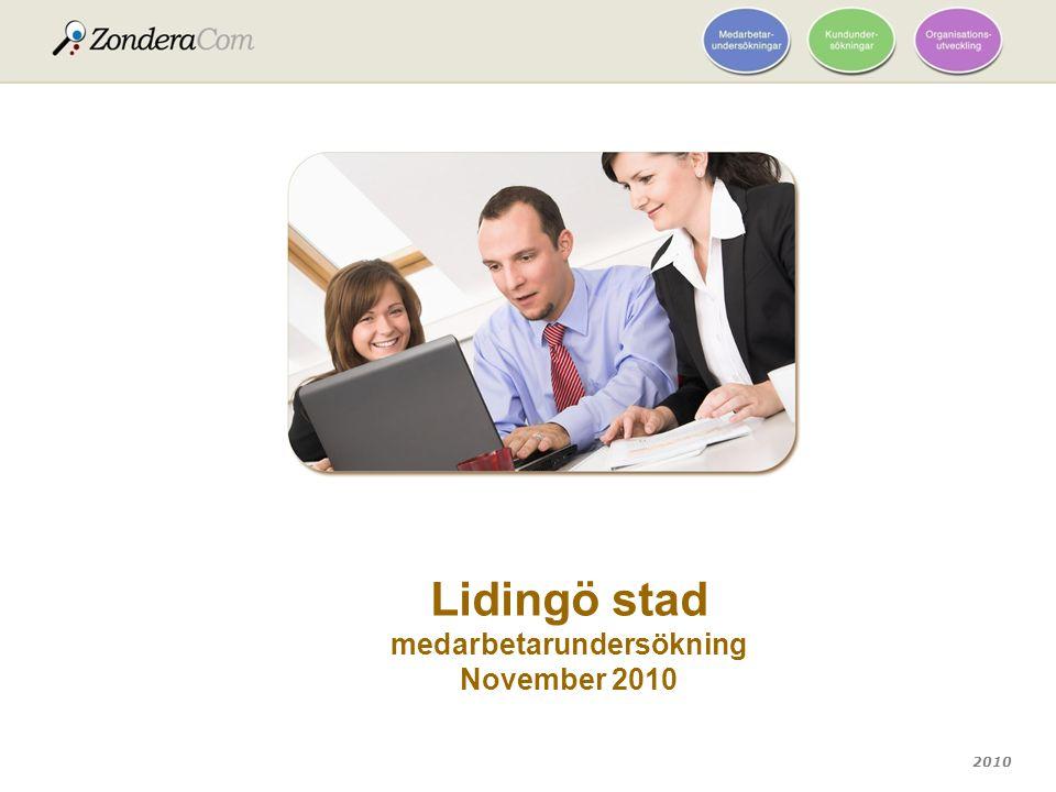 2010 Lidingö stad medarbetarundersökning November 2010