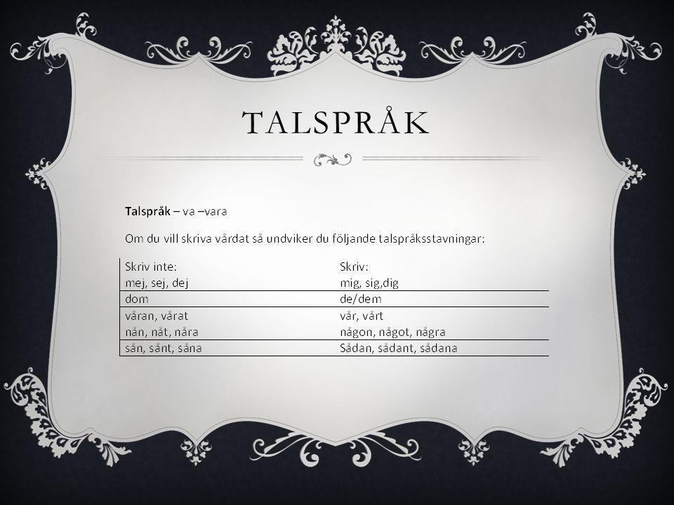 TALSPRÅK