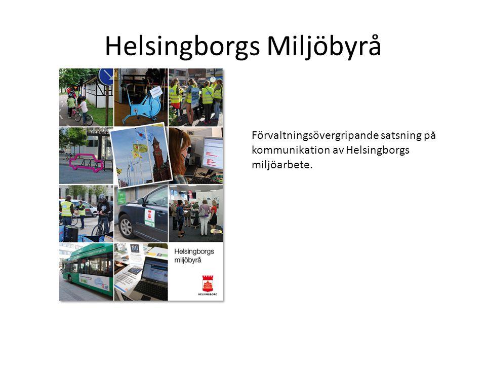 Helsingborgs Miljöbyrå Förvaltningsövergripande satsning på kommunikation av Helsingborgs miljöarbete.