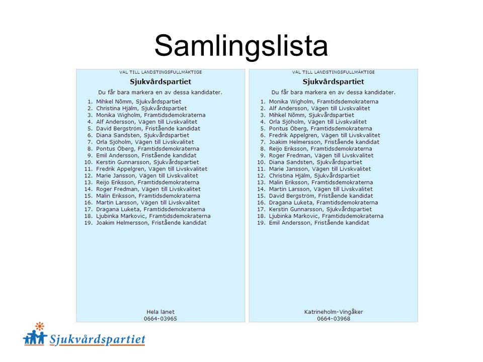 Samlingslista