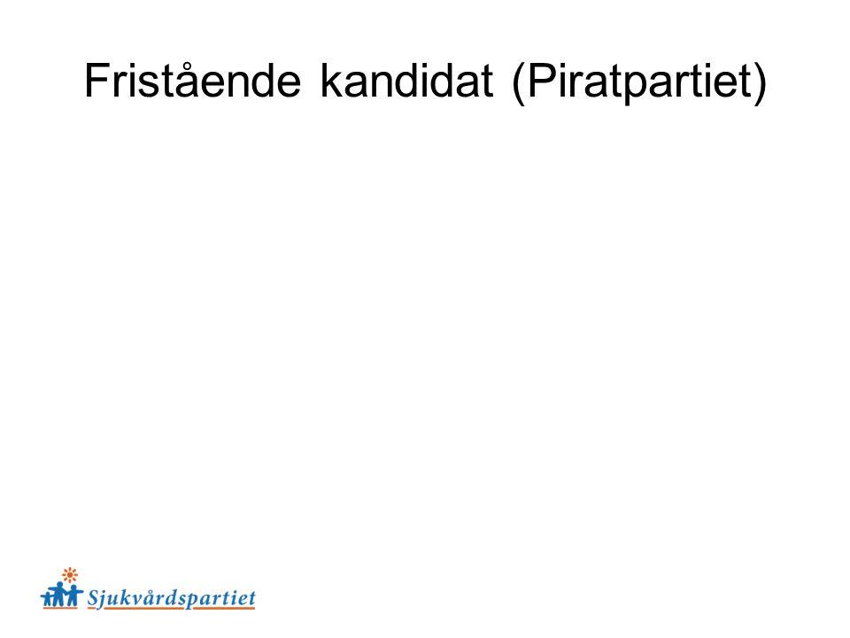 Fristående kandidat (Piratpartiet)
