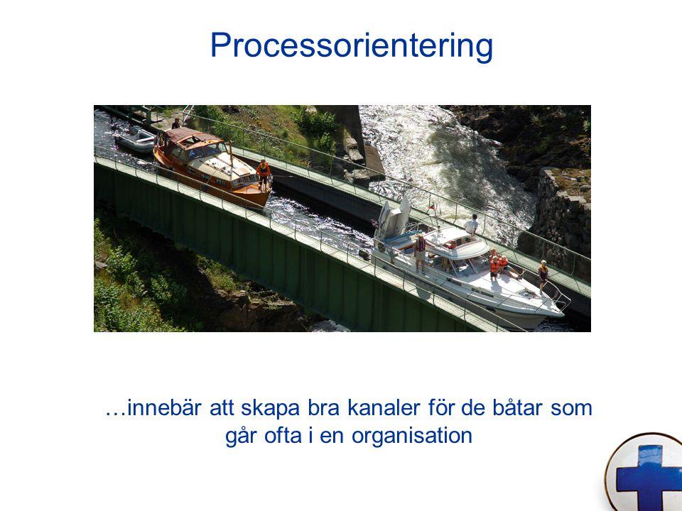 Processorientering …innebär att skapa bra kanaler för de båtar som går ofta i en organisation