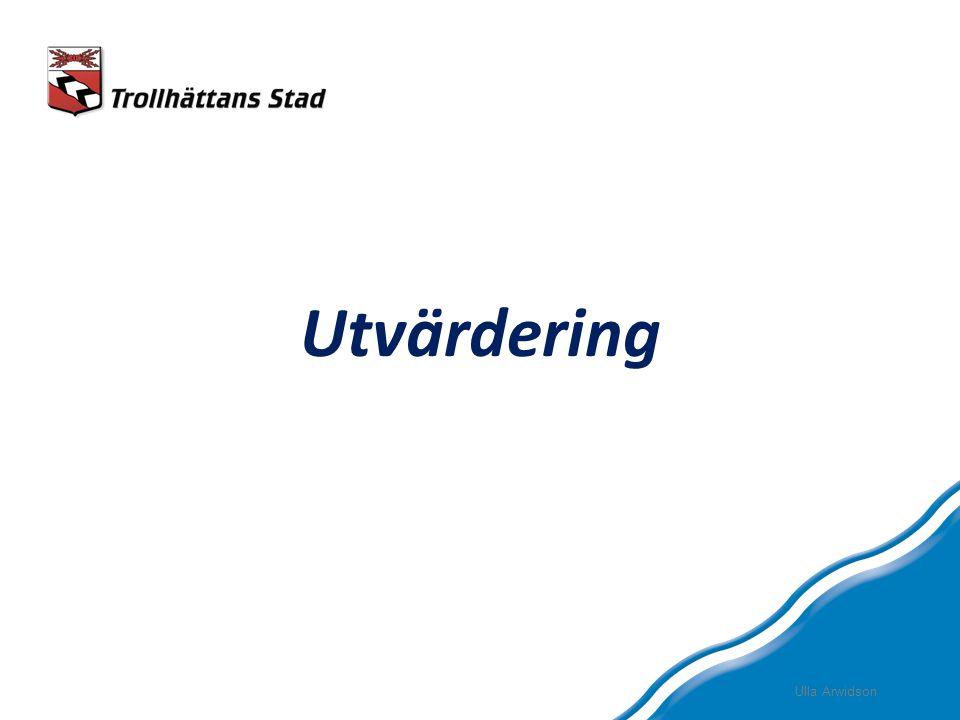 Utvärdering Ulla Arwidson