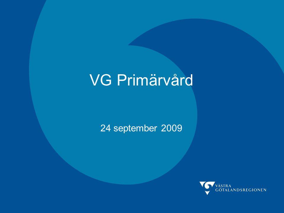 VG Primärvård 24 september 2009