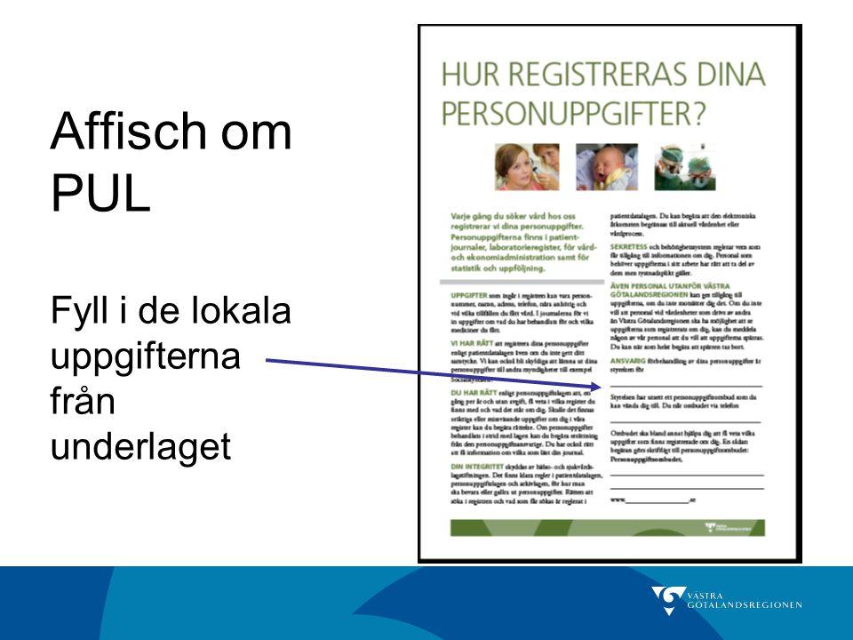 Affisch om PUL Fyll i de lokala uppgifterna från underlaget