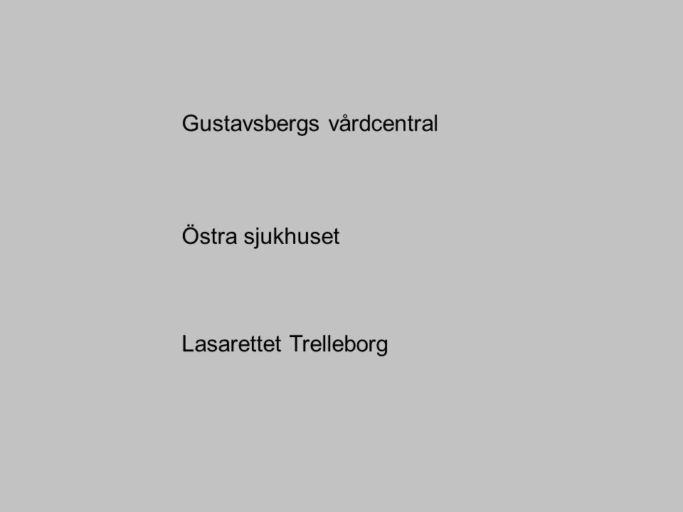 Gustavsbergs vårdcentral Östra sjukhuset Lasarettet Trelleborg