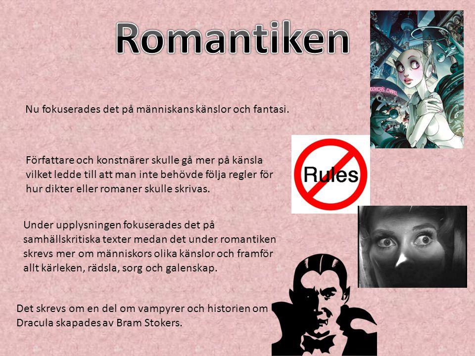 Det fanns dock vissa regler när det kom till kärlek i böcker: De som älskade varandra fick inte komma från olika samhällsklasser.