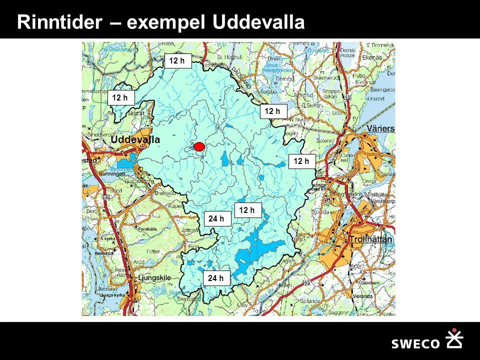 Rinntider – exempel Uddevalla 12 h 24 h 12 h Uddevalla