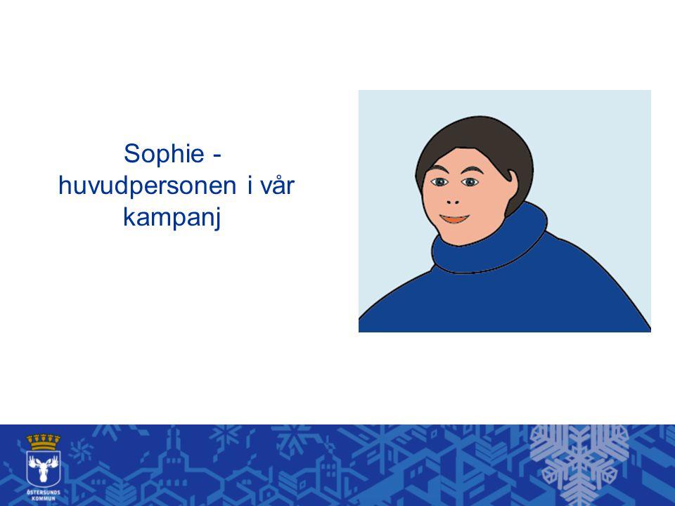 Sophie - huvudpersonen i vår kampanj