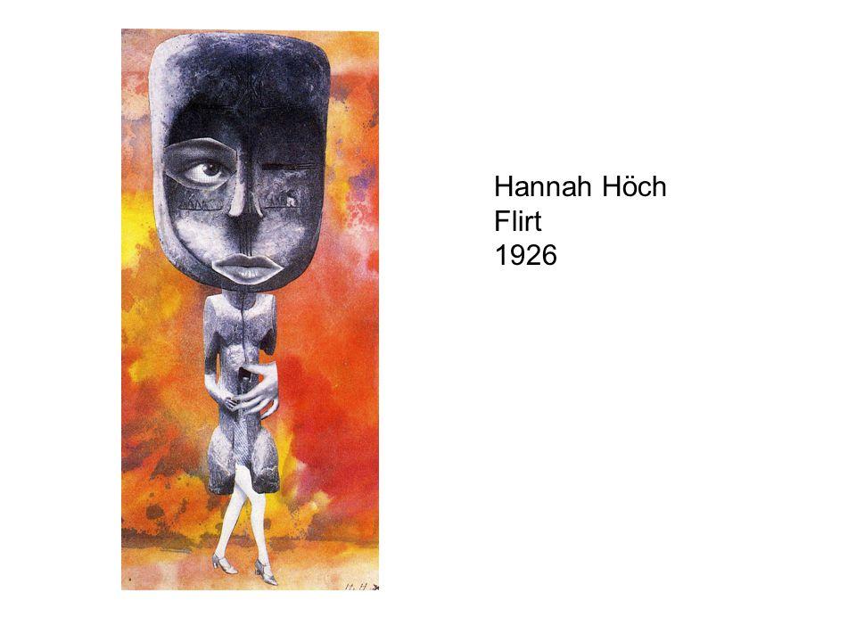 Hannah Höch Flirt 1926