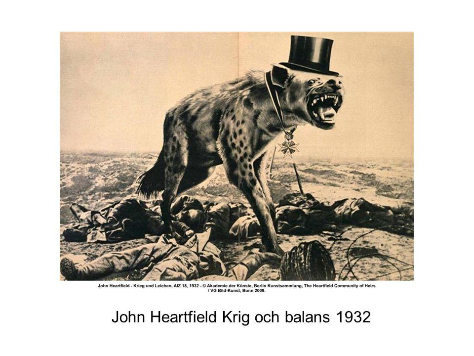 John Heartfield Krig och balans 1932