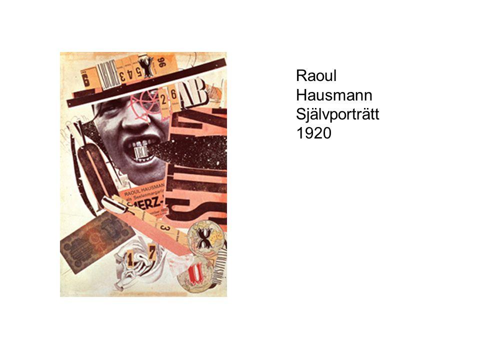 Raoul Hausmann Självporträtt 1920
