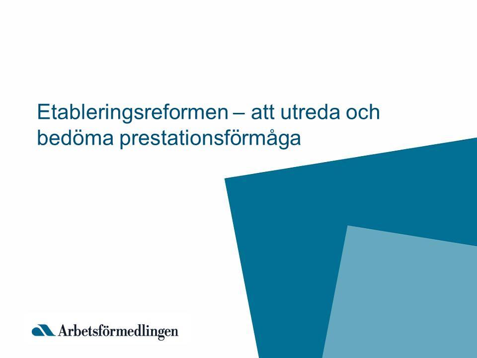 Lag (2010:197) om etableringsinsatser för vissa nyanlända invandrare Arbetsförmedlingen har ett samordnande ansvar för etableringsinsatserna Arbetsförmedlingen ska tillsammans med den nyanlände upprätta en etableringsplan där aktiviteterna utformas utifrån individens förutsättningar och behov Etableringsplanen ska innehålla SFI, samhällsorientering och arbetsförberedande insatser De som har en etableringsplan får etableringsersättning, vilken motsvarar planens omfattning Den nyanländes rätt att välja lots