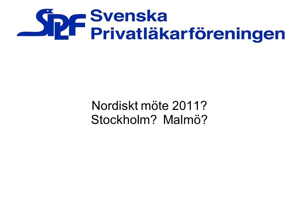 Nordiskt möte 2011? Stockholm? Malmö?