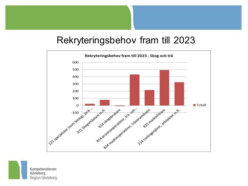 Rekryteringsbehov fram till 2023