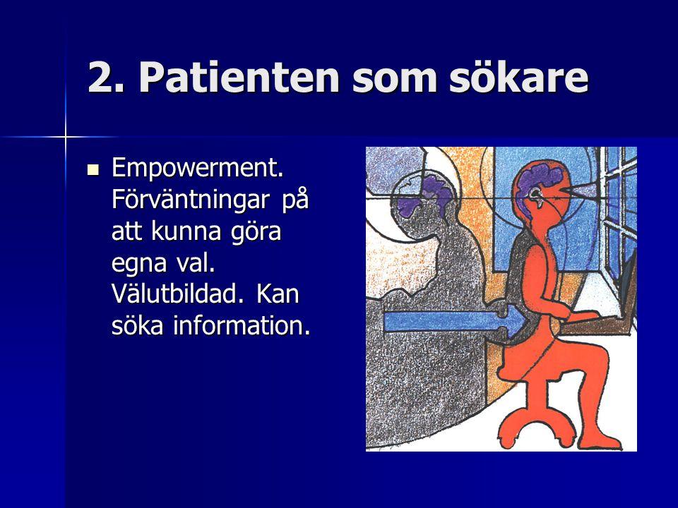 2. Patienten som sökare Empowerment. Förväntningar på att kunna göra egna val.