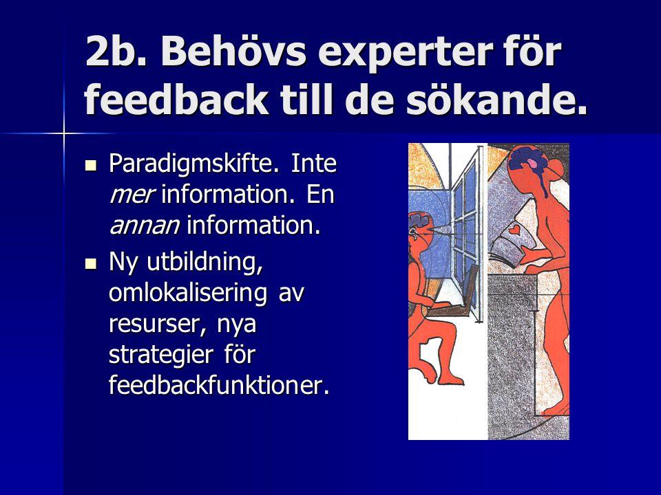 2b. Behövs experter för feedback till de sökande.