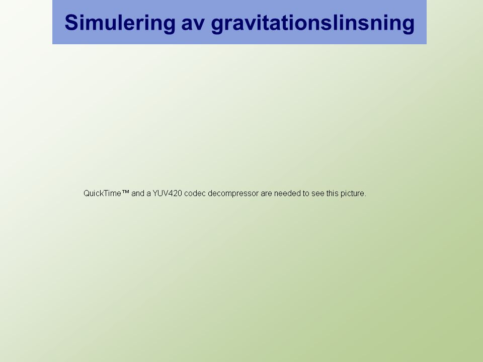 Simulering av gravitationslinsning