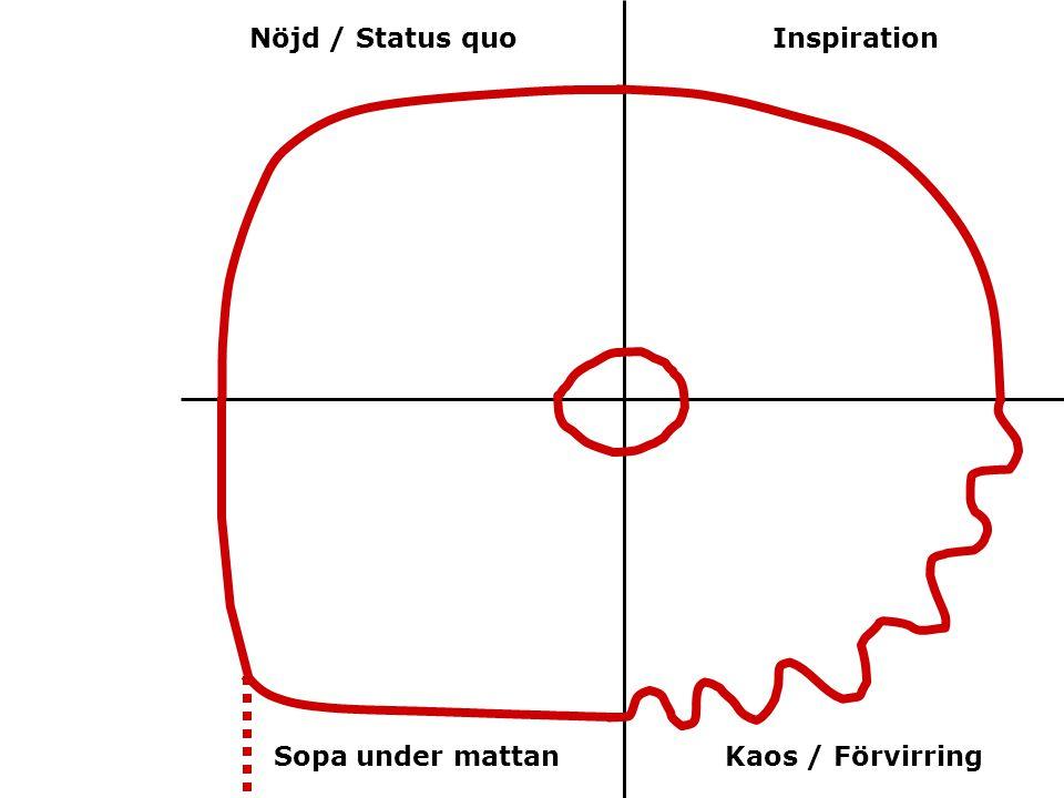 Nöjd / Status quo Sopa under mattanKaos / Förvirring Inspiration