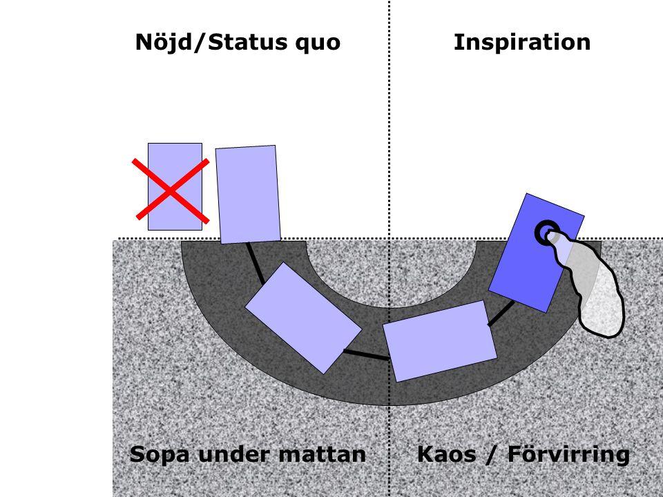 Nöjd/Status quoInspiration Sopa under mattanKaos / Förvirring
