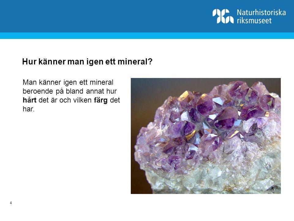 5 Jordskorpans vanligaste mineral Fältspat är det vanligaste mineralet, det kan ha många olika färger.