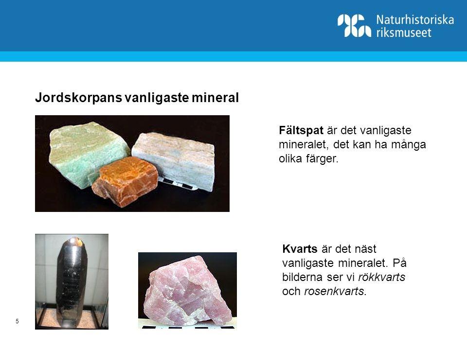 6 Mineral i vår vardag kalcit grafit kvarts svavel pyrit halit