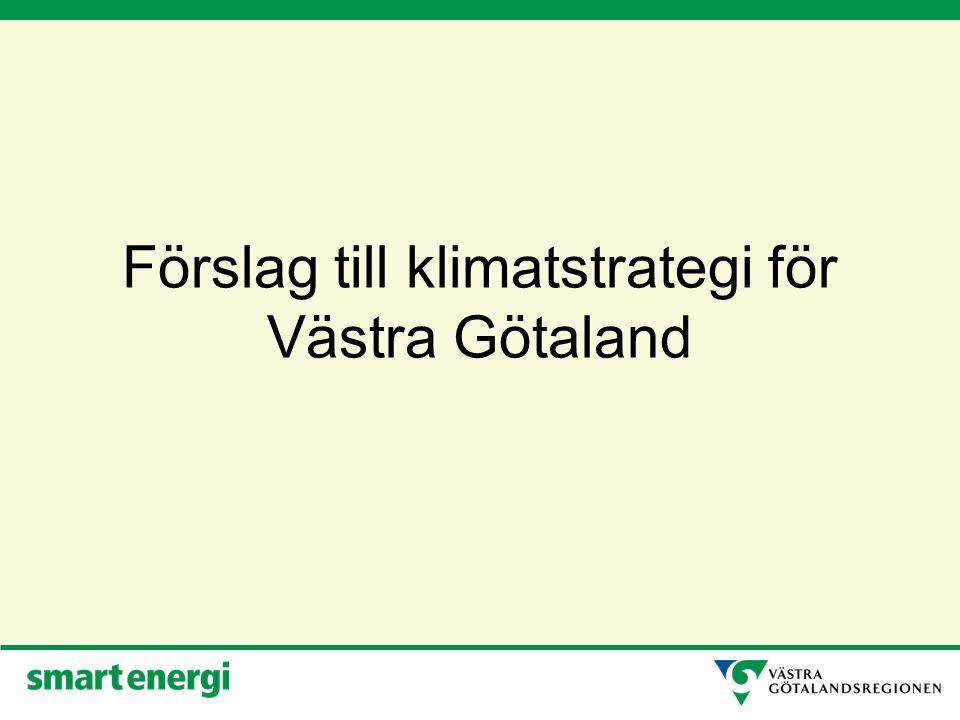 Förslag till klimatstrategi för Västra Götaland