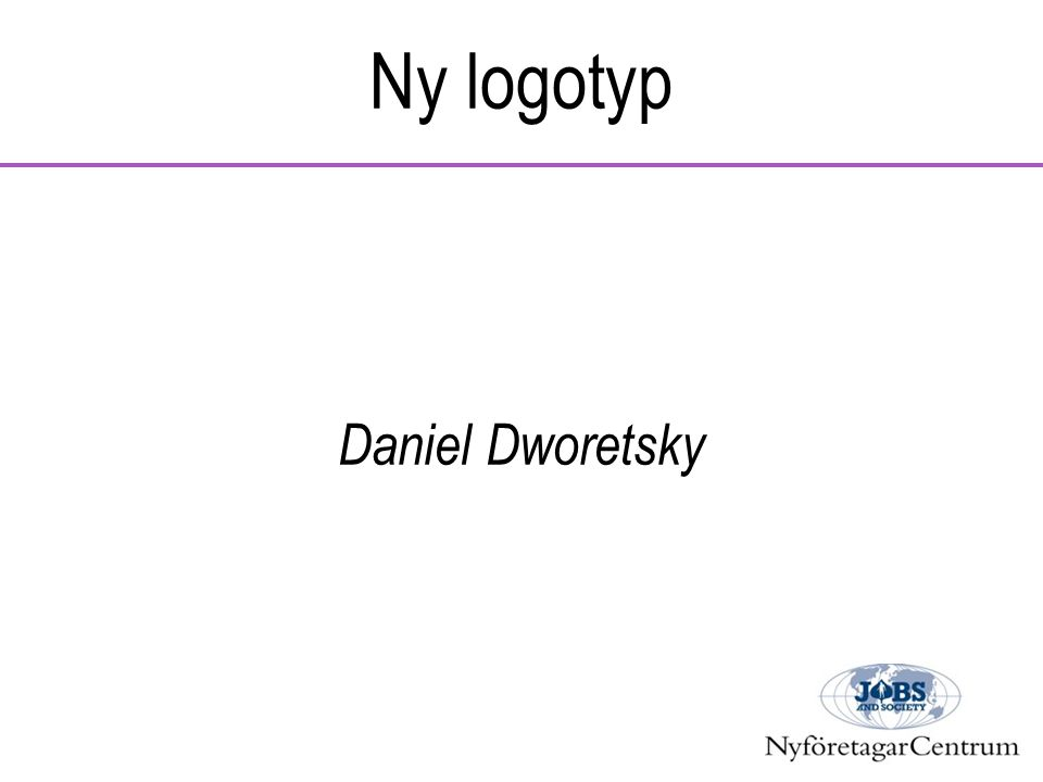 Ny logotyp Daniel Dworetsky