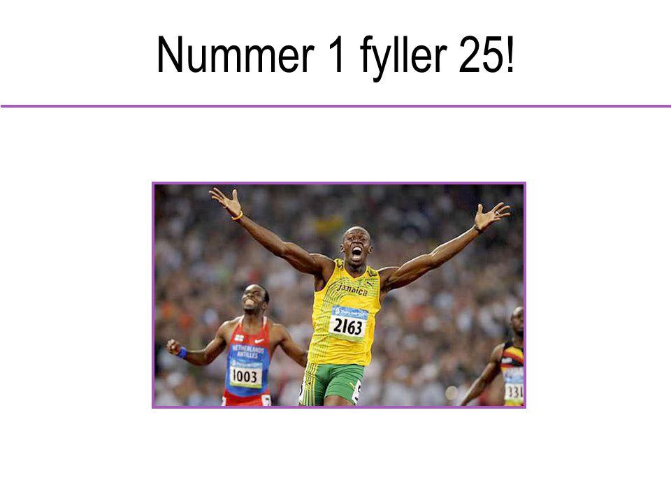 Nummer 1 fyller 25!