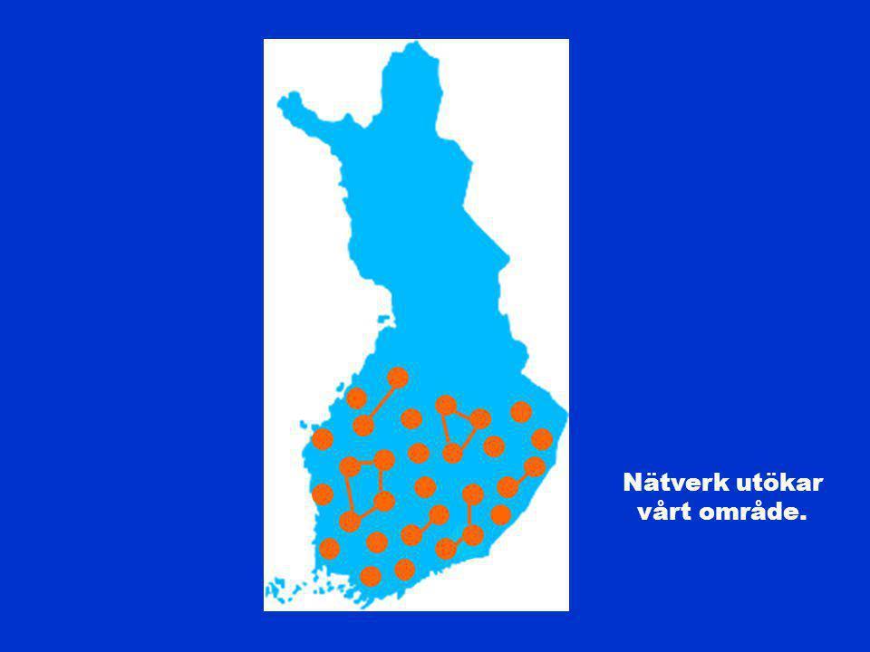 Nätverk utökar vårt område.