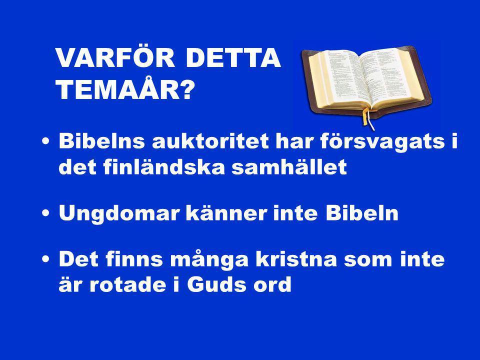 VARFÖR DETTA TEMAÅR.