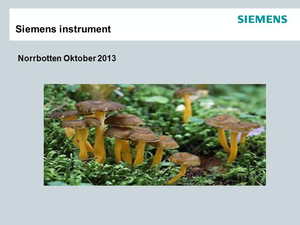Norrbotten Oktober 2013 Siemens instrument