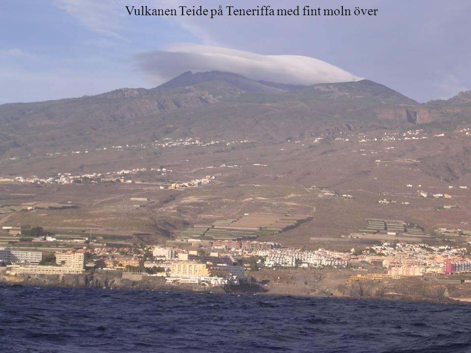 Vulkanen Teide på Teneriffa med fint moln över