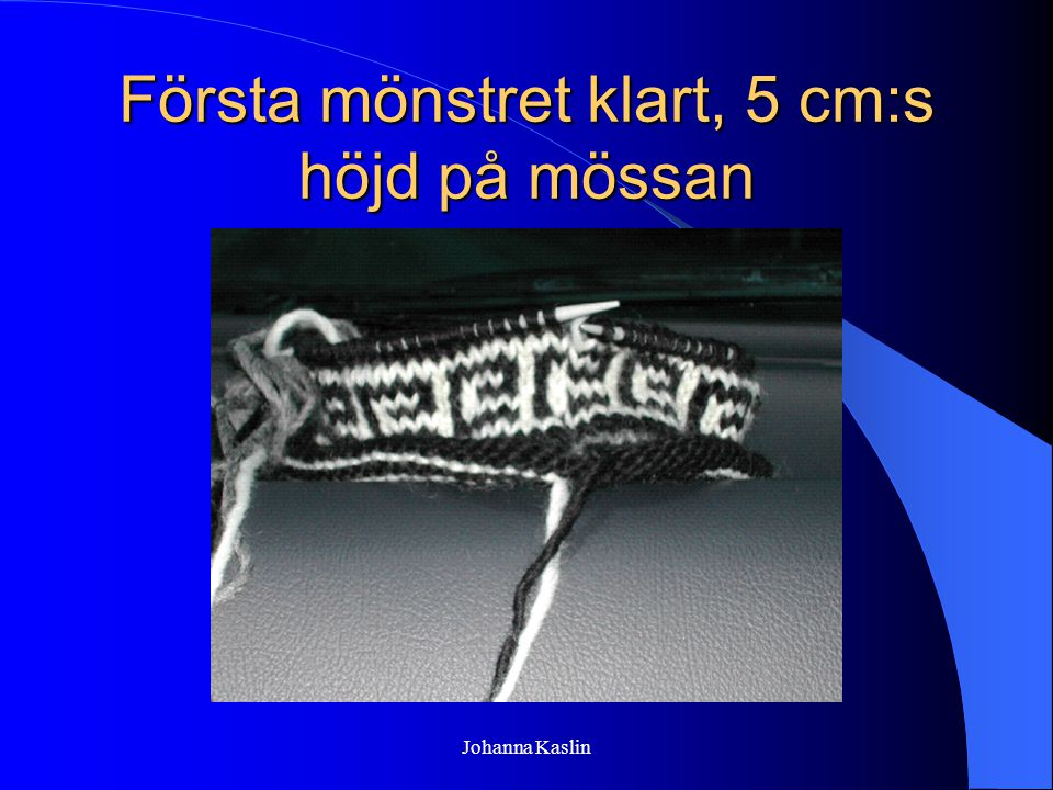 Johanna Kaslin Dags att börja ta ihop, mössan är ca 15 cm hög