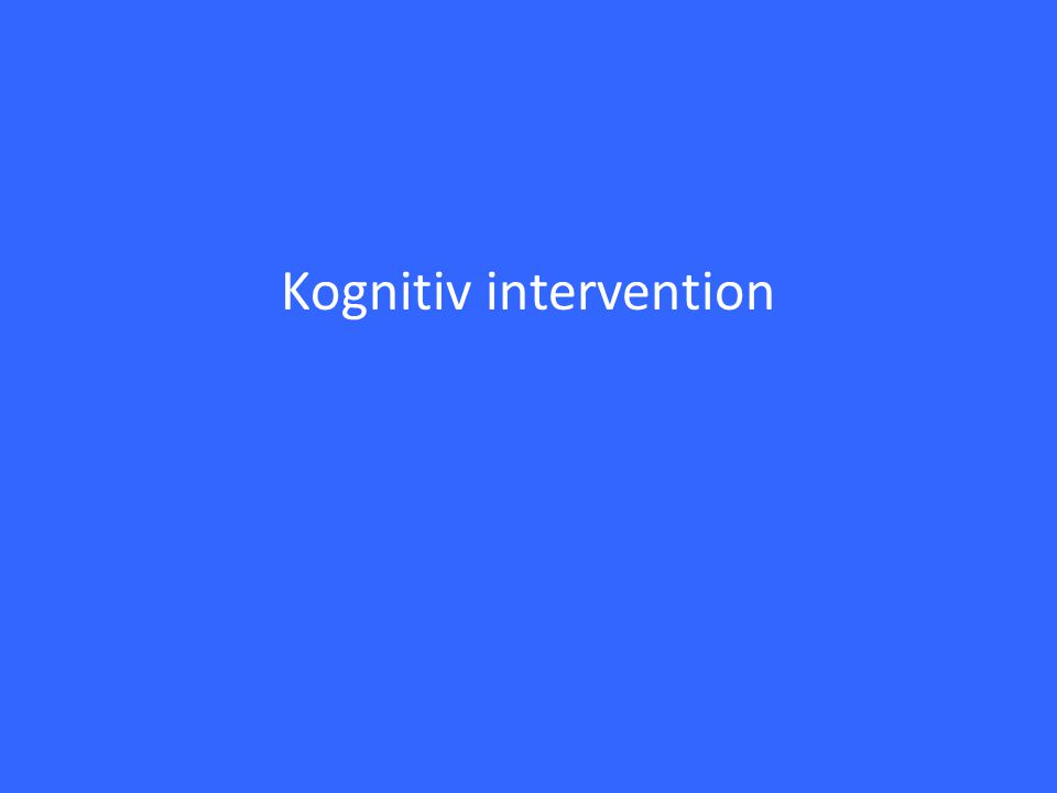 Kognitiv intervention