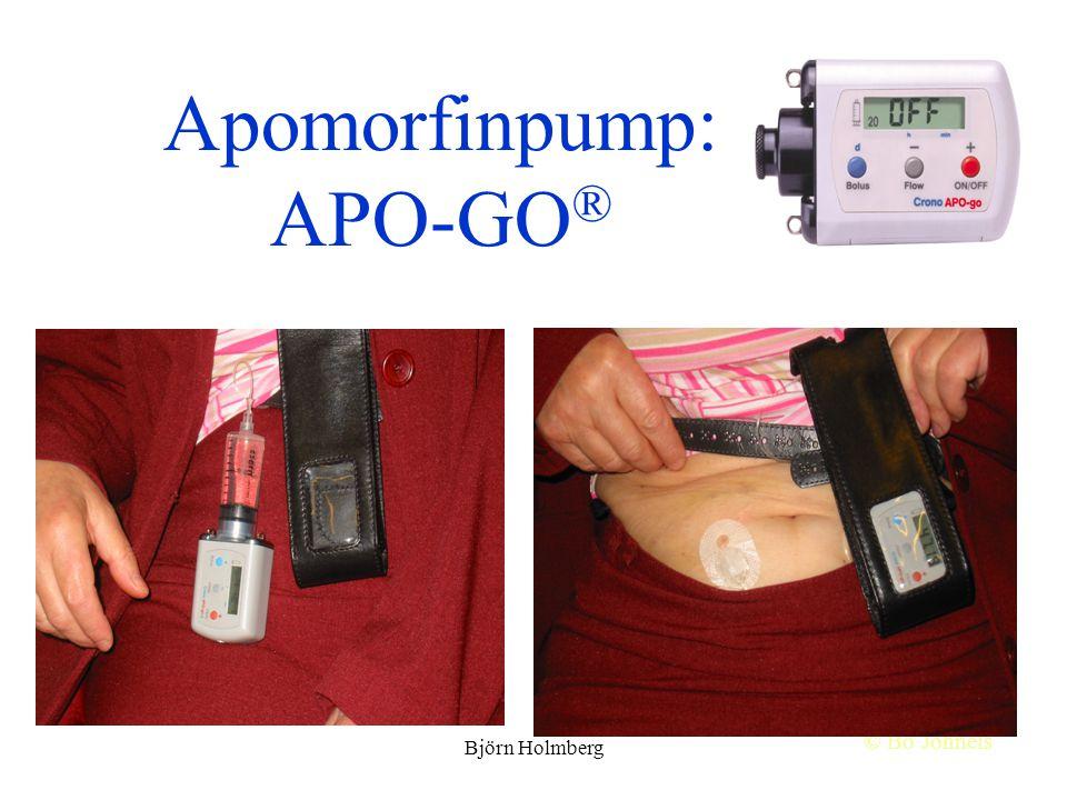 Apomorfinpump: APO-GO ® © Bo Johnels Björn Holmberg