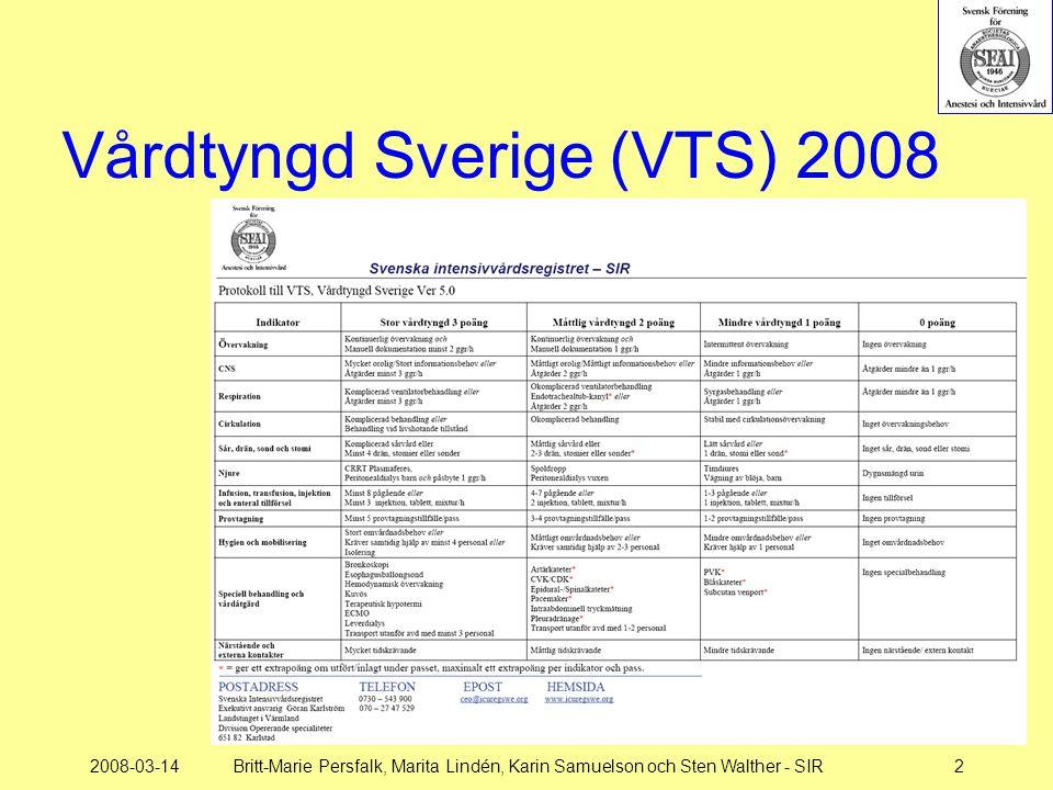 2008-03-14Britt-Marie Persfalk, Marita Lindén, Karin Samuelson och Sten Walther - SIR2 Vårdtyngd Sverige (VTS) 2008
