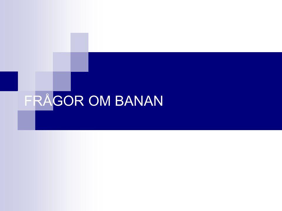 FRÅGOR OM BANAN