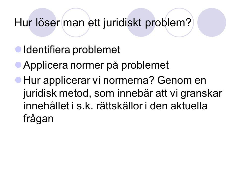 Hur löser man ett juridiskt problem.