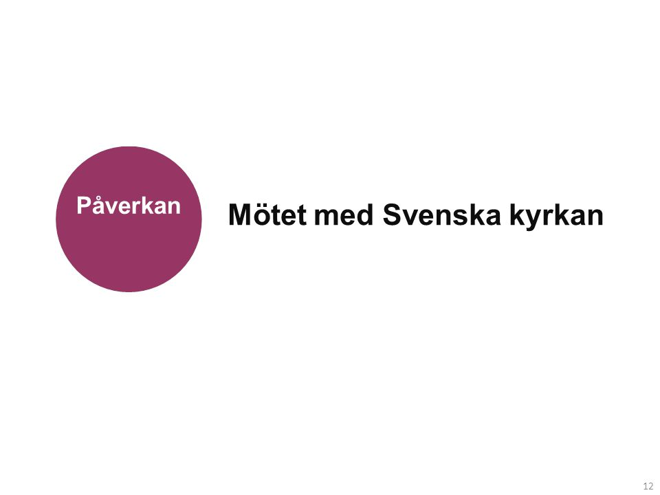 12 Mötet med Svenska kyrkan Påverkan 12