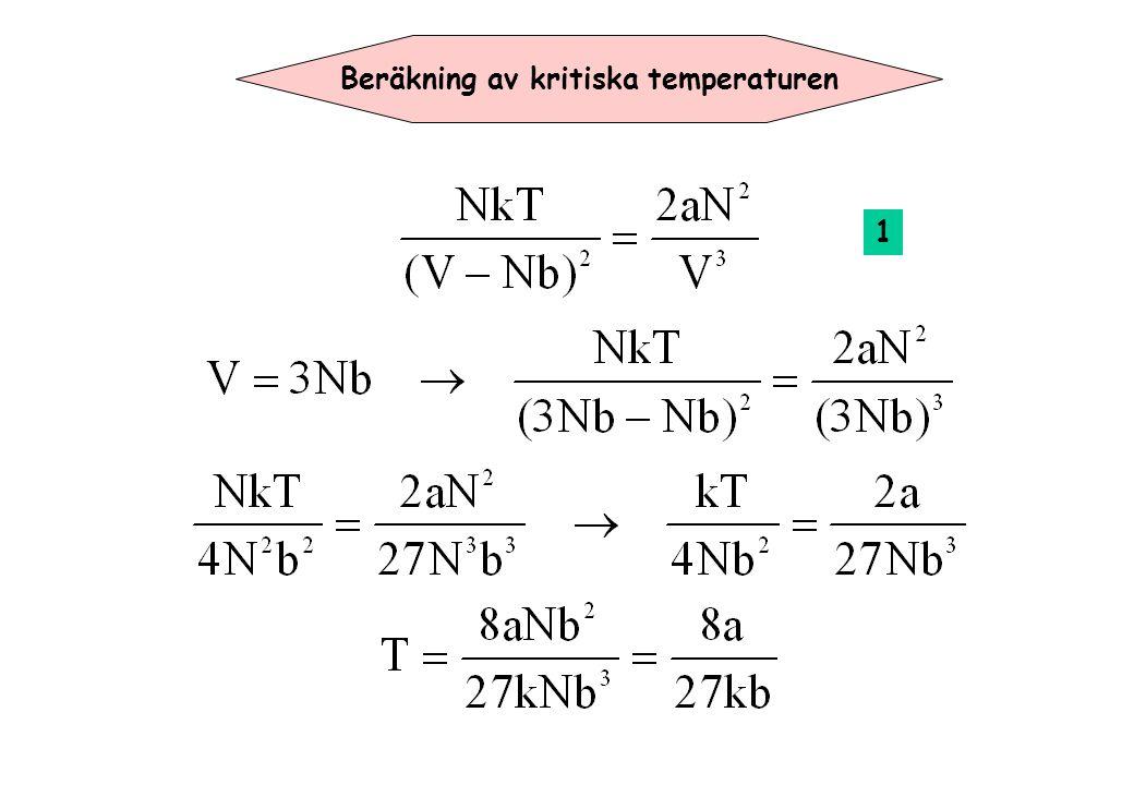Beräkning av kritiska temperaturen 1