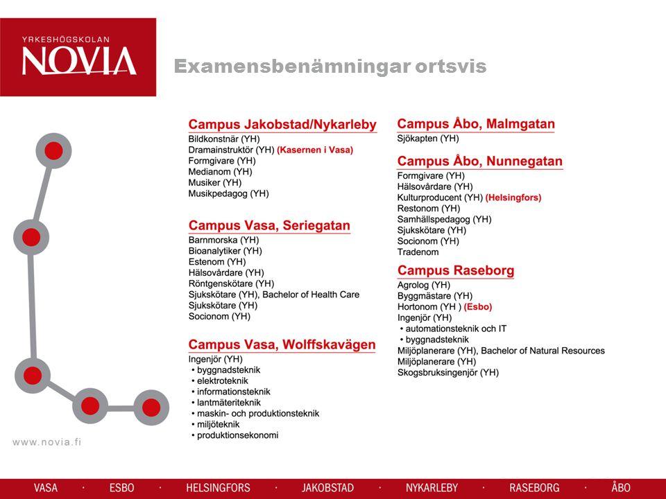 Yrkesinstituten har fristående examina (yrkesprov) Vuxenutbildningen Kompetensbaserade läroplaner Valideringskomission Lärare, arbetsgivare, arbetstagarrepresentant Modulvis, t.ex.