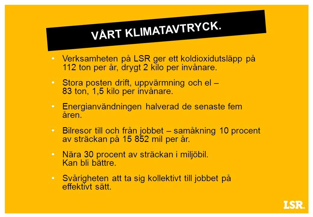 VÅRT KLIMATAVTRYCK.