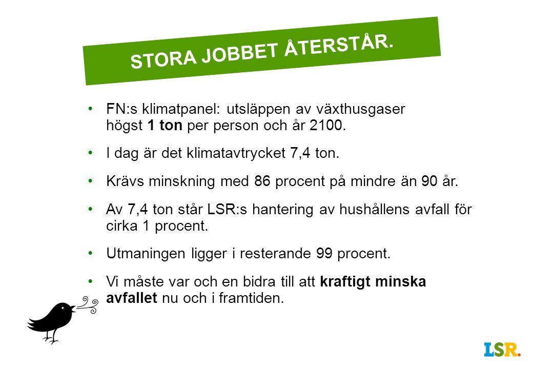 STORA JOBBET ÅTERSTÅR.