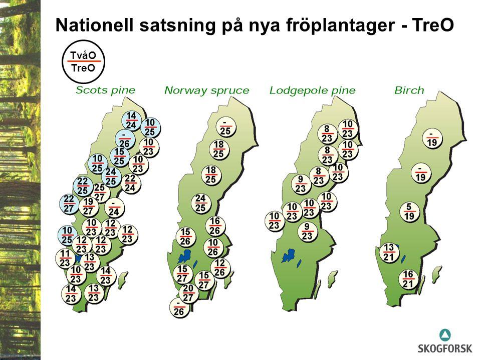 Nationell satsning på nya fröplantager - TreO TvåO TreO