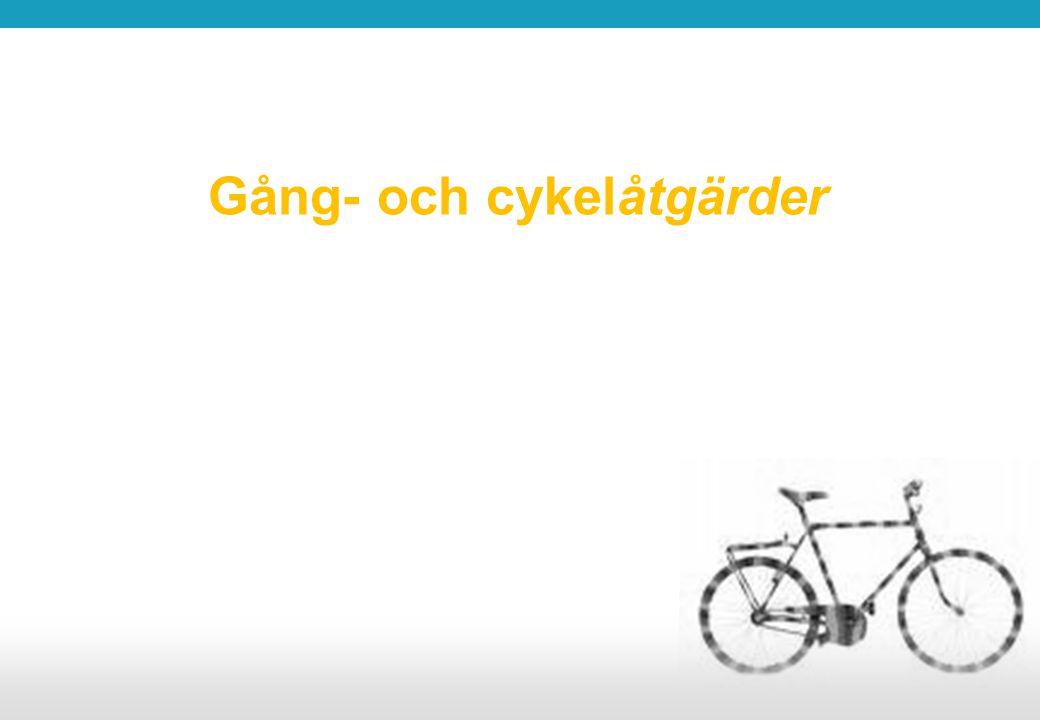 Gång- och cykelåtgärder