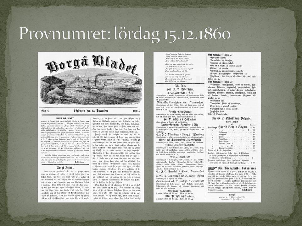 Borgå underrättelser Helsingfors och Landsorten Reflexioner i anledning af några nyss utkomna Litteraturalster Dikt Nyårsnatten Auktion Till Salu, t.ex.