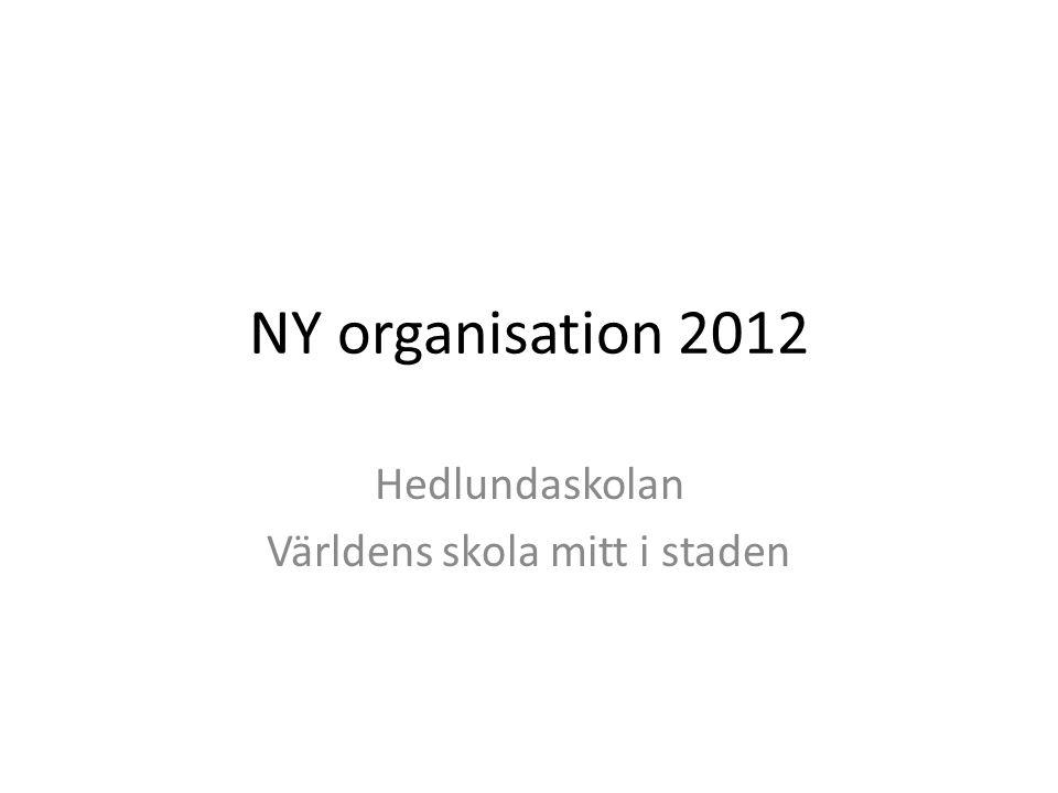 NY organisation 2012 Hedlundaskolan Världens skola mitt i staden
